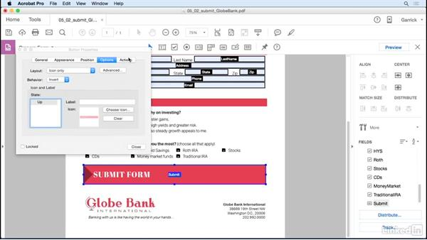 Add a submit button: Acrobat DC: Create Forms