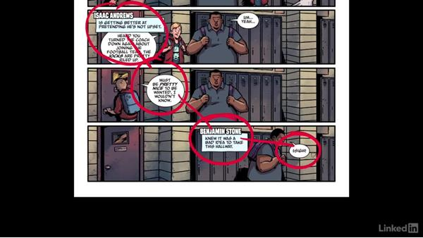 Left to right and top to bottom: Designing Dynamic Layouts with Text and Dialog in Comics