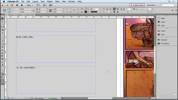 Formatting text from the script: Designing Dynamic Layouts with Text and Dialog in Comics