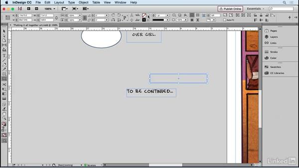 Building balloons and boxes: Designing Dynamic Layouts with Text and Dialog in Comics