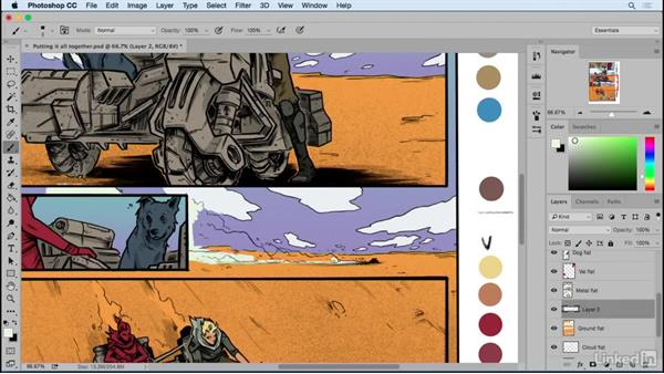 Creating a comic page: Start to finish: Designing Dynamic Layouts with Text and Dialog in Comics