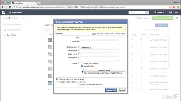 Published and unpublished page posts: Advanced Facebook Advertising