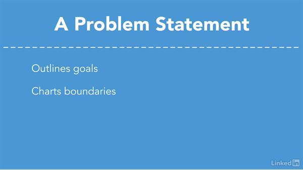 Define the problem statement: Critical Thinking