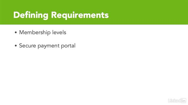 Define requirements for your membership site: WordPress: Building a Paid Membership Site