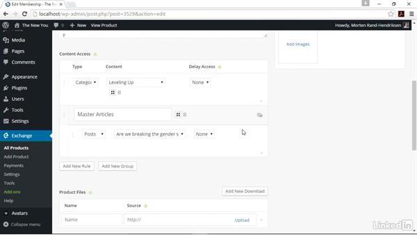 Configure member-level access: WordPress: Building a Paid Membership Site