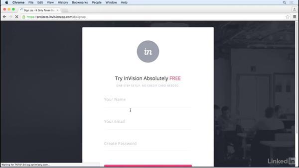 Creating your InVision account: UX Design Tools: InVision