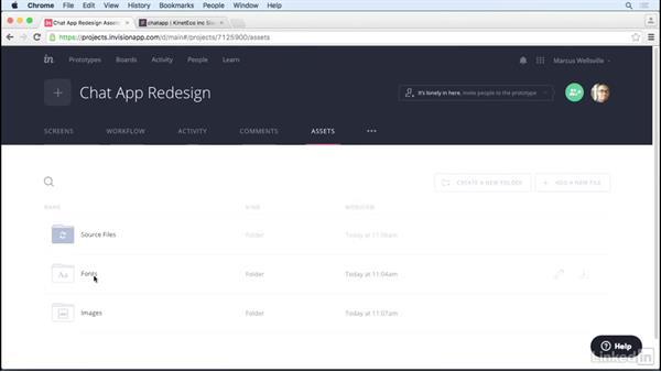 Asset management: UX Design Tools: InVision