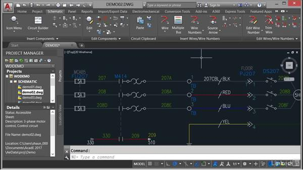 Using the exercise files: AutoCAD Electrical Essential Training