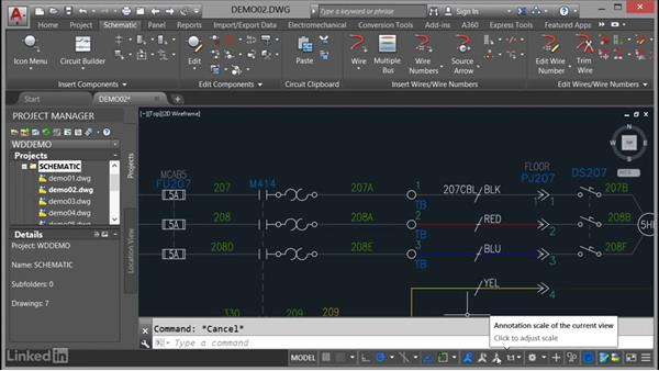 Using the status bar: AutoCAD Electrical Essential Training