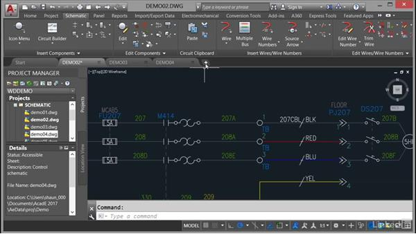 Using the Drawing tabs: AutoCAD Electrical Essential Training