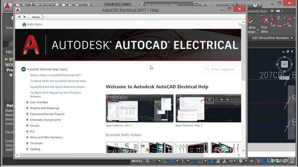 Accessing Help: AutoCAD Electrical Essential Training
