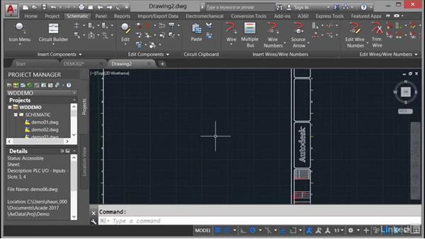 Using template fIles: DWT: AutoCAD Electrical Essential Training