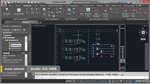 Using Zoom commands: AutoCAD Electrical Essential Training