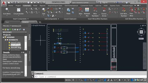 Navigating project drawings: AutoCAD Electrical Essential Training