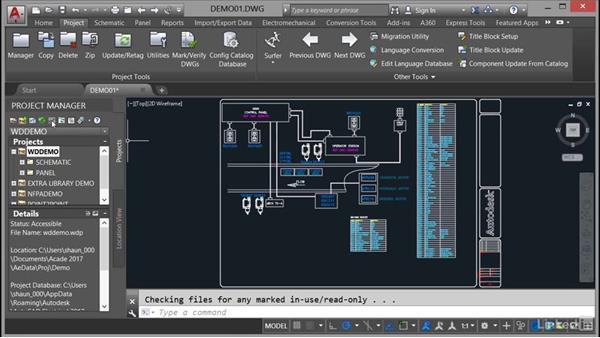 Using the Project Manager interface: AutoCAD Electrical Essential Training