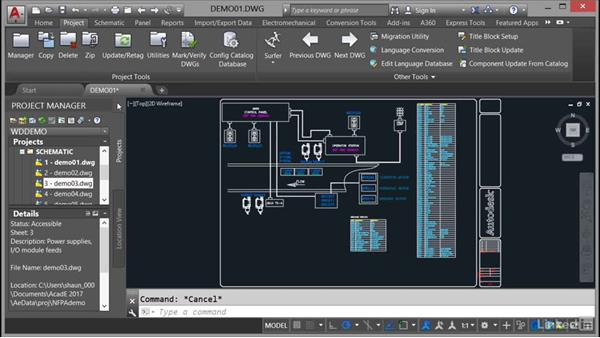 Opening an electrical drawing: AutoCAD Electrical Essential Training
