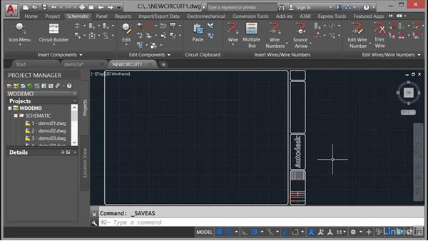 Adding a drawing to a project file: AutoCAD Electrical Essential Training