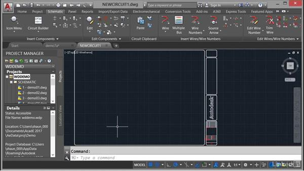 Managing drawings in projects: AutoCAD Electrical Essential Training
