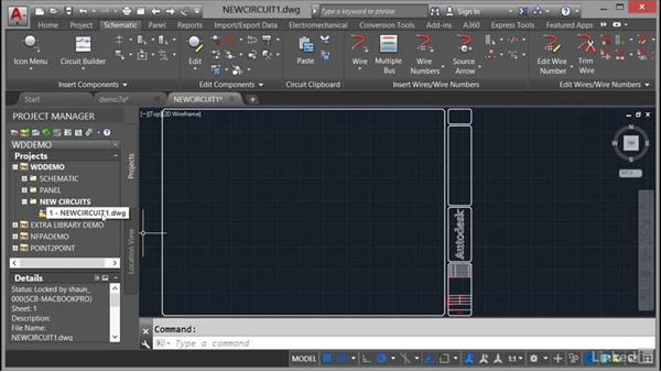 The Project Manager drawing list: AutoCAD Electrical Essential Training