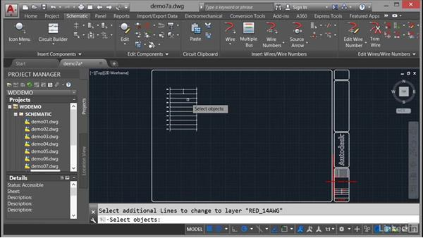 Editing wires: AutoCAD Electrical Essential Training