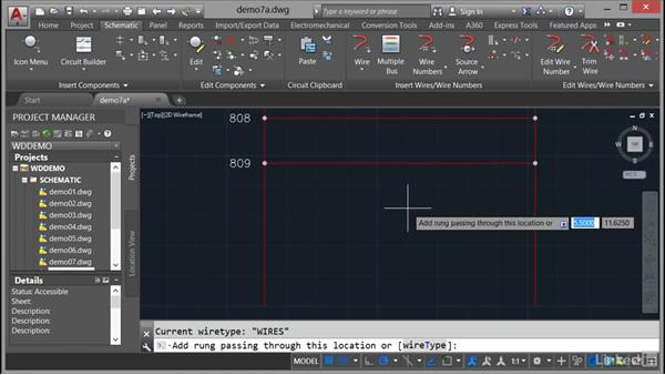 Adding rungs: AutoCAD Electrical Essential Training