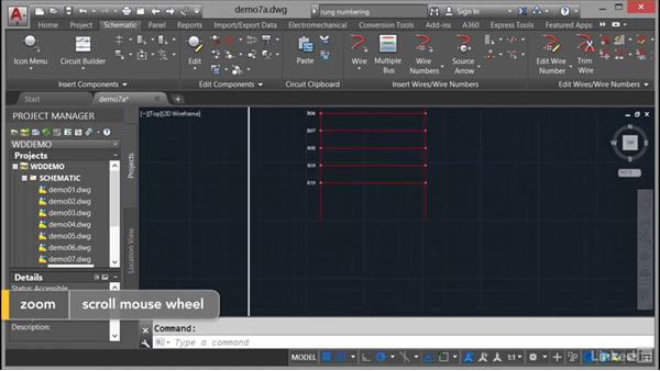 Numbering wires: AutoCAD Electrical Essential Training