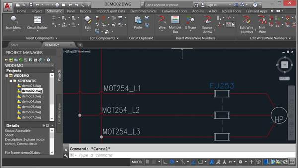 Using cable markers: AutoCAD Electrical Essential Training