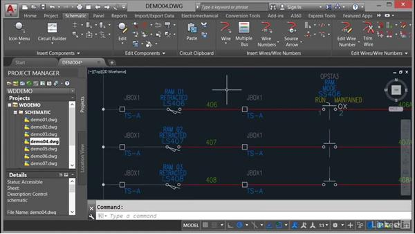 Editing components: AutoCAD Electrical Essential Training