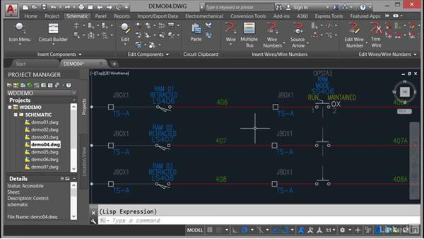 Moving components: AutoCAD Electrical Essential Training