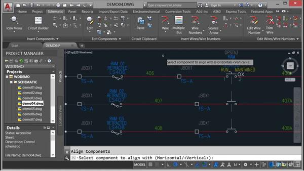 Aligning components: AutoCAD Electrical Essential Training