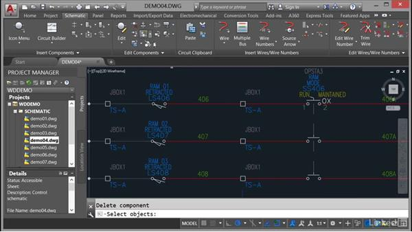 Deleting components: AutoCAD Electrical Essential Training