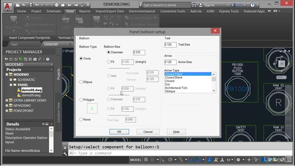 Adding balloons to panels: AutoCAD Electrical Essential Training