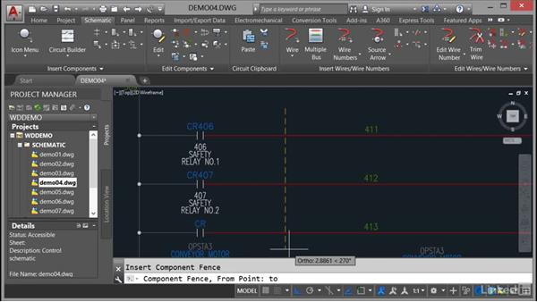 Using the Multiple Insert Component command: AutoCAD Electrical Essential Training