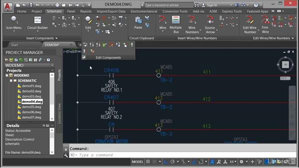 Inserting jumpers: AutoCAD Electrical Essential Training