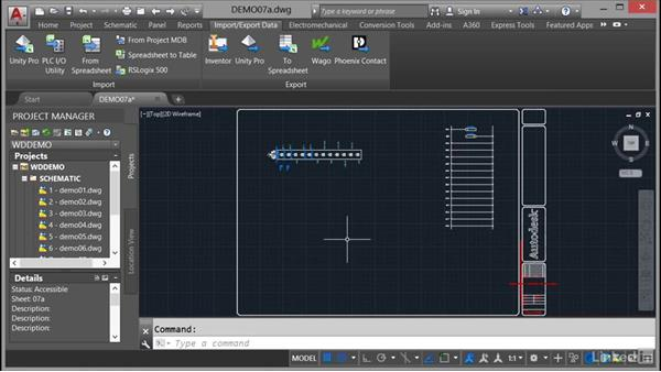 Using the spreadsheet to PLC I/O: AutoCAD Electrical Essential Training