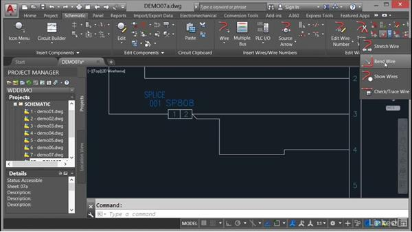 Bending wires: AutoCAD Electrical Essential Training