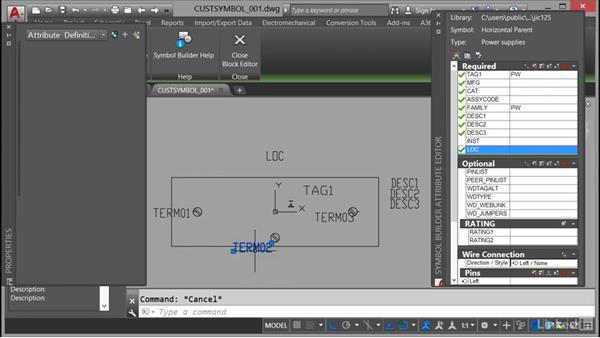 Adding standard attributes: AutoCAD Electrical Essential Training