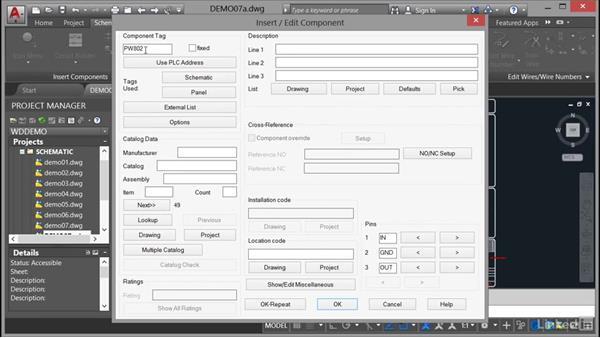Inserting a custom symbol: AutoCAD Electrical Essential Training