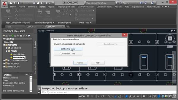 Using the footprint lookup database: AutoCAD Electrical Essential Training