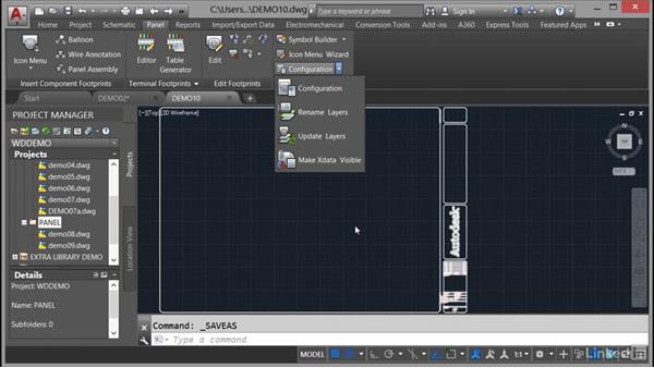 Setting the panel drawing configuration: AutoCAD Electrical Essential Training