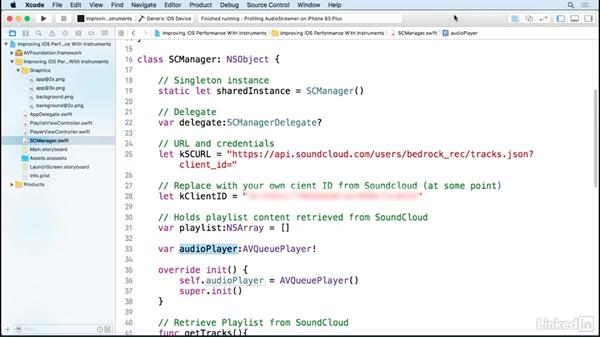 Overview of a project file: Improving iOS Performance with Xcode and Instruments