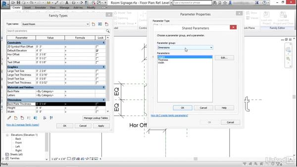 Shared parameters: Revit: Create Signage Plans