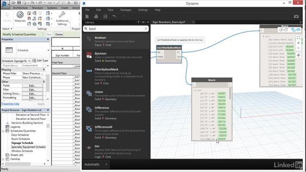 Input mark values with Dynamo: Revit: Create Signage Plans