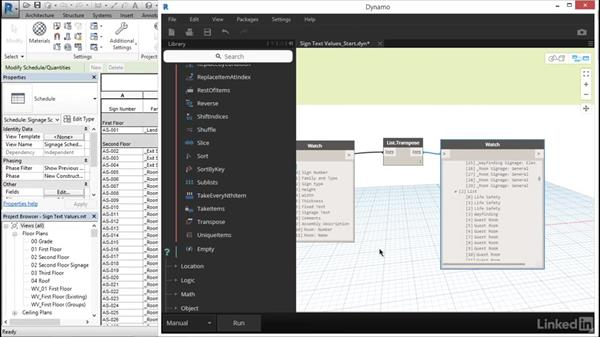 Use Dynamo to input room info: Revit: Create Signage Plans
