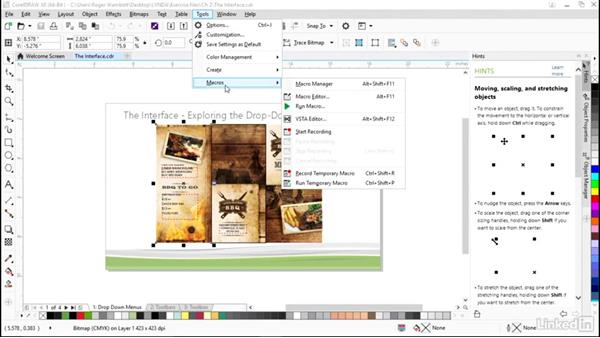 Touring the interface: CorelDRAW X8 Essential Training
