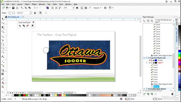 Exploring the Crop tool flyout: CorelDRAW X8 Essential Training