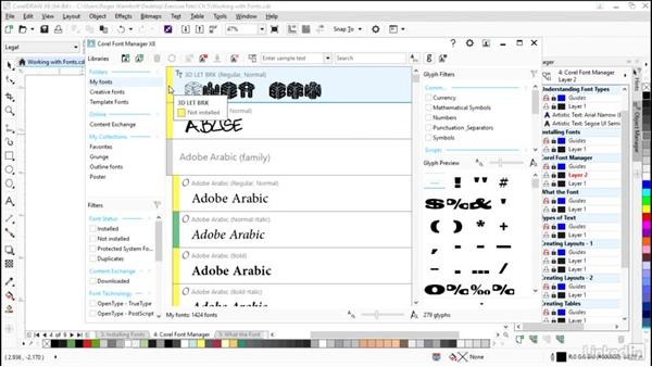 Corel Font Manager: CorelDRAW X8 Essential Training