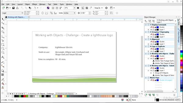 Challenge: Create a lighthouse logo: CorelDRAW X8 Essential Training