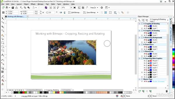 Cropping, resizing, and rotating bitmaps: CorelDRAW X8 Essential Training