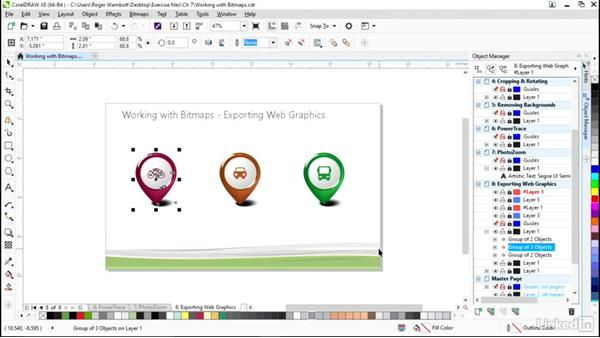 Exporting web graphics: CorelDRAW X8 Essential Training